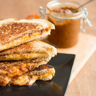 Grilled Cheese Sandwiches with Bacon Jam.