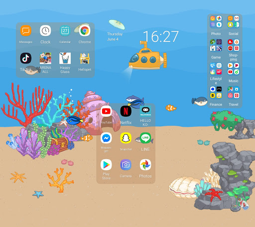 Wide Launcher - 2x wider, tile free decorating 1.3.0 screenshots 8