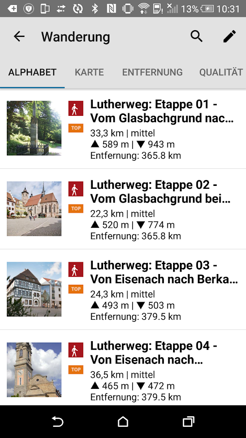 Luther to go – Screenshot