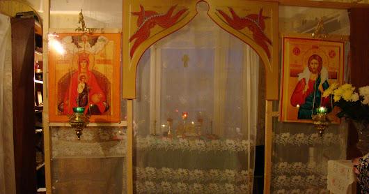 Богослужение в храме преп. Серафима Саровского (СПБ)