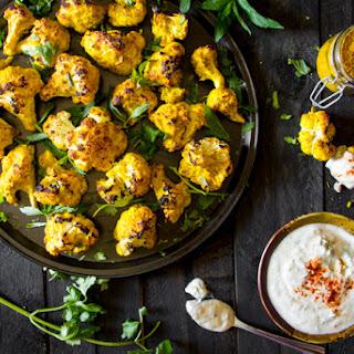 Tandoori Cauliflower Bites - with a Mint-Cilantro Raita