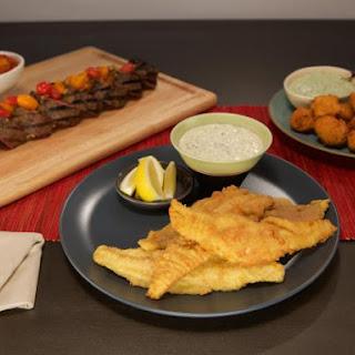 Fried Catfish with Tartar Sauce.