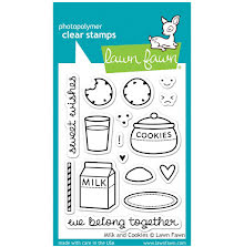 Lawn Fawn Clear Stamps 3X4 - Milk And Cookies