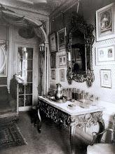 Photo: Interior de Mlle Sorel de la Comedie- Française, Avenue des Champs- Elysees ( 8 arr) 1910. .- EUGÈNE ATGET