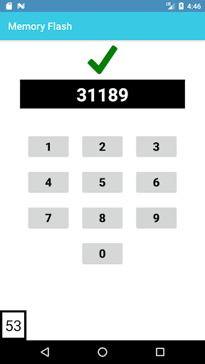 Memory Flash - Fast Paced Number Memory Game 1.0.7 screenshots 3