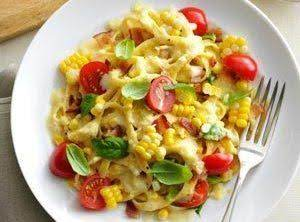Fresh Corn Fettuccine Recipe