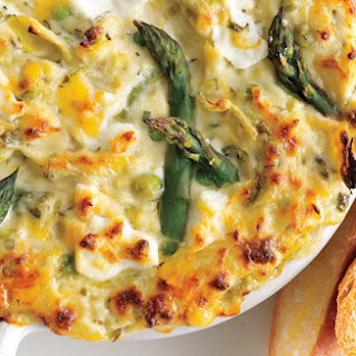 Spring Vegetable and Goat Cheese Dip.