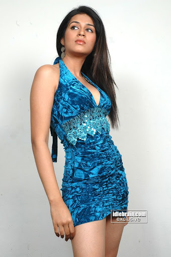 Blue Sexy Dress: Sraddha Das