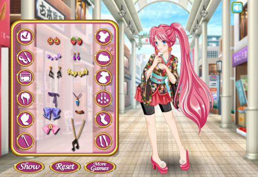 Anime Girl Dress Up And Makeup - Girls Games apktram screenshots 2