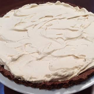 Choc Hazelnut Tart With Coffee Mascarpone Cream.