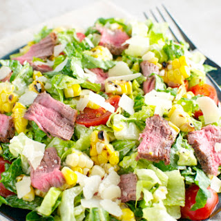 Steak and Corn Caesar Salad