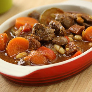 Slow Cooker Spanish Lamb with Beans.