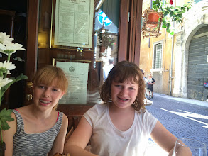 Photo: Lunch at the restaurant next door to our apartment