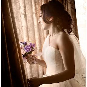 by Doru Iachim - Wedding Bride ( woman, beautiful, bride, light, young )