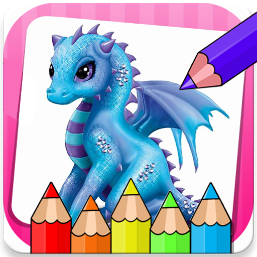 Dragon Coloring Book Icon