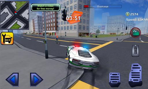 警察スーパーカー犯罪ユニットの3D