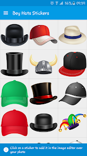 Boy Hats Stickers- screenshot thumbnail