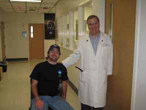 Photo: Devin & Dr. Ware... he was rolling around in a desk chair, LOL...