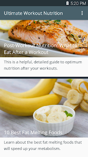 Ultimate Workout Nutrition- screenshot thumbnail