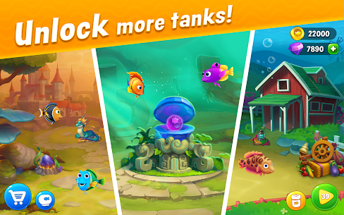 Fishdom Mod Apk 5.13.0 [Unlimited Money And Gems] 3
