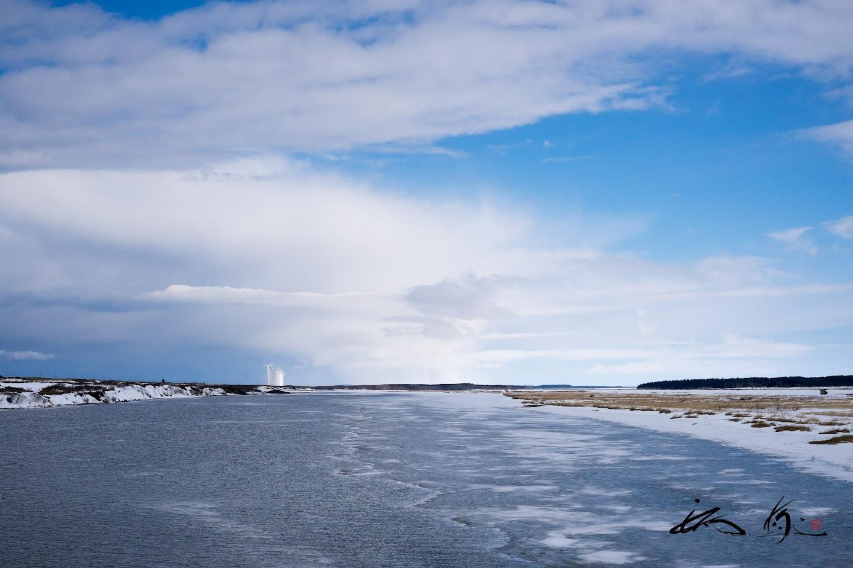 海岸線の浅瀬