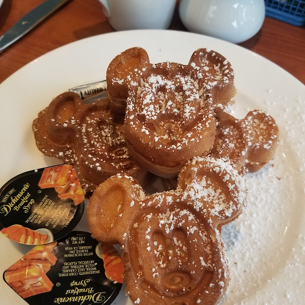 Mmmm... GF Mickey waffles just for me!