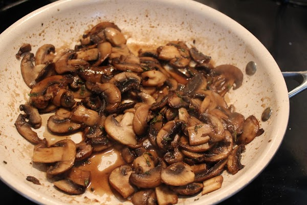 Taste at this point and add more marinade to the mushrooms, for a stronger...