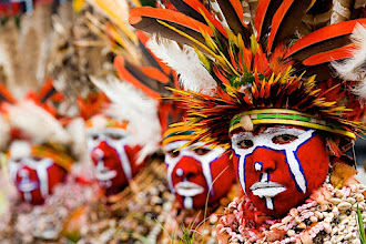 Photo: Papua New Guinea Mount Hagen © Eric Lafforgue    1000 pictures in my Ipad Iphone Ipod App http://itunes.apple.com/us/app/lafforguehd/id453725359?mt=8