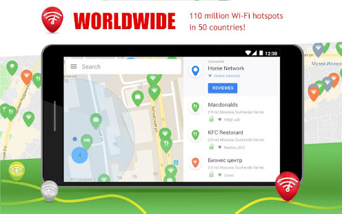 App Free WiFi App: WiFi map, WiFi passwords, hotspots APK for Windows Phone