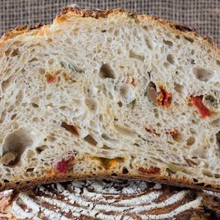 Olive, Tomato And Feta Bread
