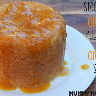 Steamed Orange Pudding with Orange Sauce.
