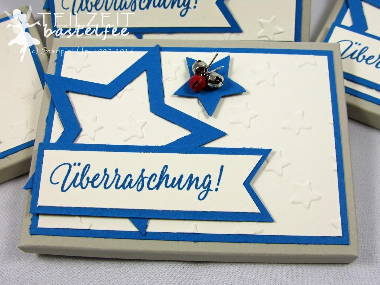 Stampin' Up! – Adventskalender, Schokolinsen, advent calendar, Envelope Punch Board, Star Framelits, Tin of Tags, Drauf und Dran, Mini-Glöckchen, bells, Christmas, Weihnachten