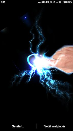 Electrical Lightning Touch Thunder Live Wallpapper screenshot 1