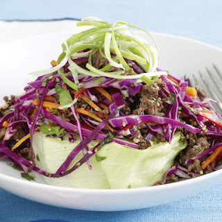 Asian Ground Beef with Sweet Chili Slaw.