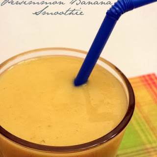 Persimmon Banana Smoothie.