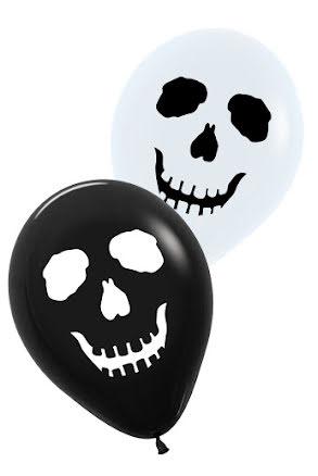 Ballong, Skräck svart o vit 6 st
