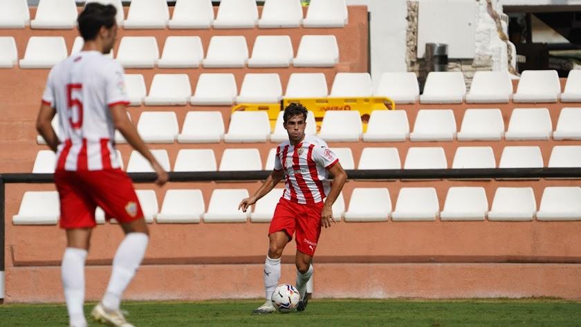 Dani Albiar en el amistoso del Almería contra la Balona.