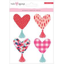 Crate Paper Heart Tassels 4/Pkg - Main Squeeze Heart UTGÅENDE