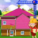 Pink House Construction: Home Builder Games icon