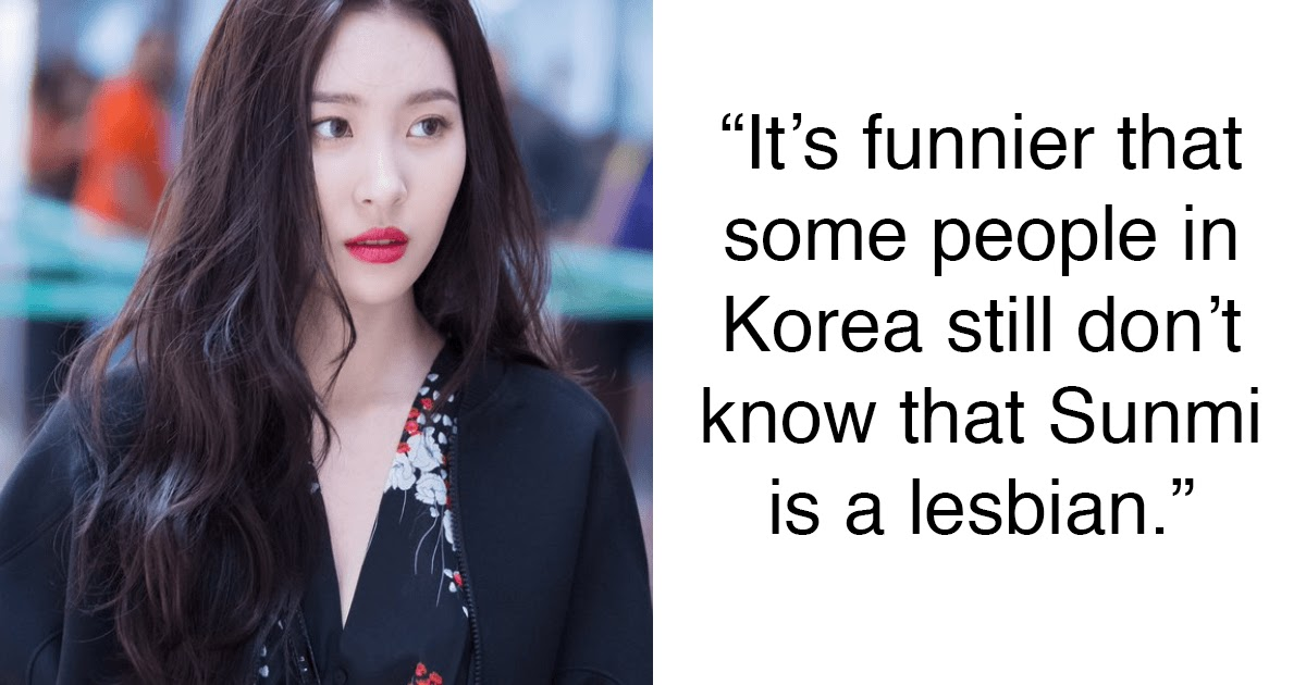 Netizens Find Alleged Evidence That Proves Sunmi Is Gay, Sunmi Responds -  Koreaboo