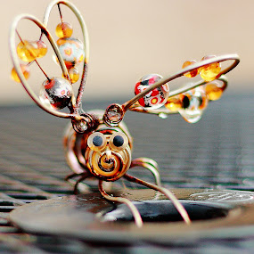 Glass Bead Bug by Virginia Folkman - Artistic Objects Other Objects