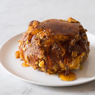 Pumpkin Stuffed Pretzel French Toast