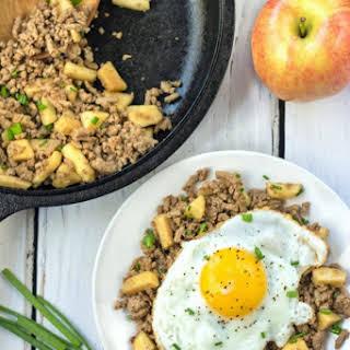 Balsamic Ground Turkey and Apple Breakfast Hash.