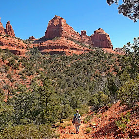 Happy Trails by Al Judge - Landscapes Mountains & Hills ( schnebly hill, happy trails, arizona, sedona, hiking )