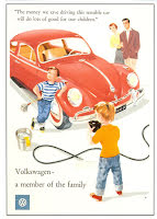 Röd typ 1:a med barnfamilj