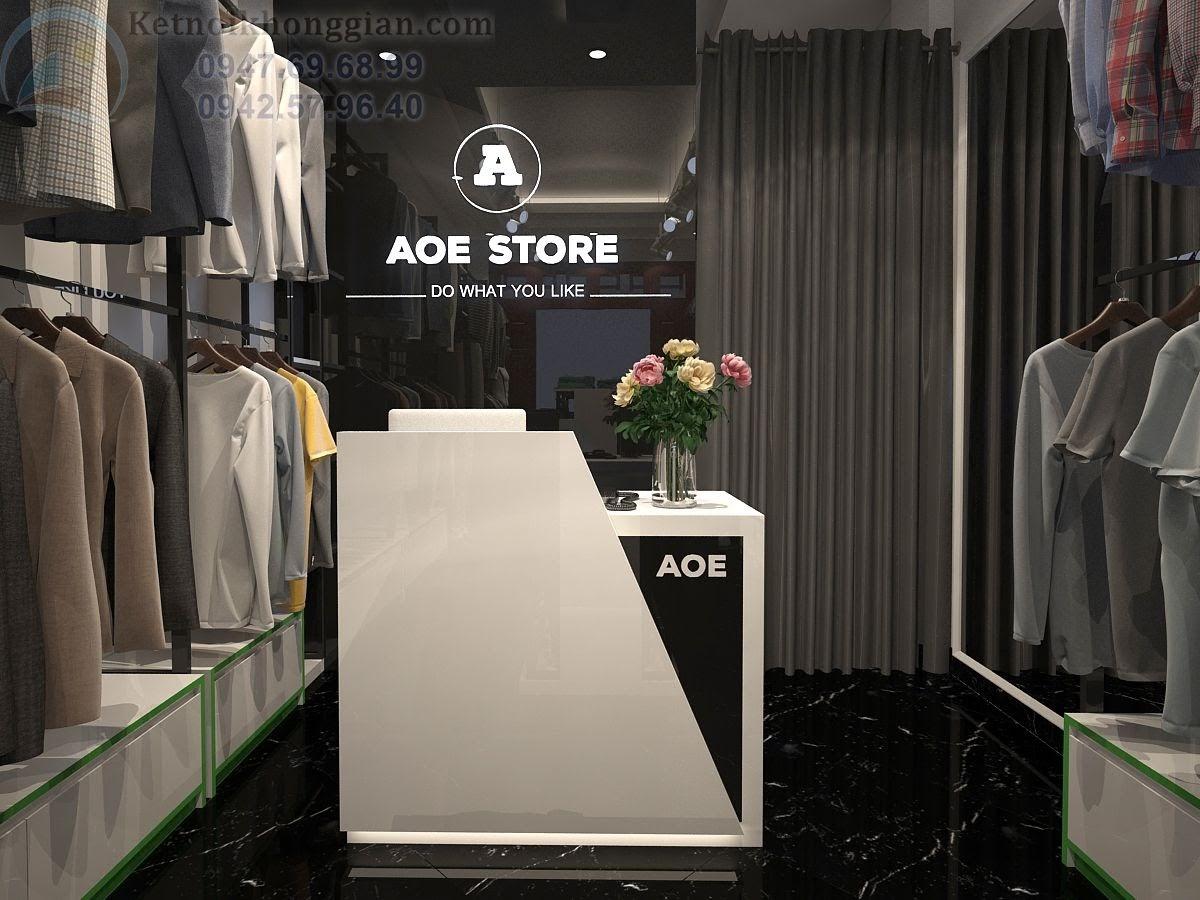 thiết kế của hàng quần áo chuyên nghiệp, thiết kế shop thời trang nam cao cấp