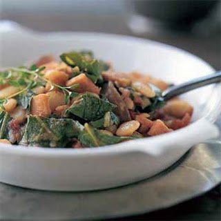 Collard Greens with Lima Beans and Smoked Turkey Recipe
