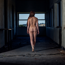 Miis L by Gerrit de Graaff - Nudes & Boudoir Artistic Nude ( boudoir, photooftheday, nikon d, sexy, walking, brunette, nude, naughty, dark background, photography )