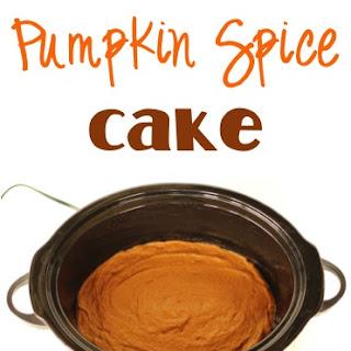 Crockpot Pumpkin Spice Cake