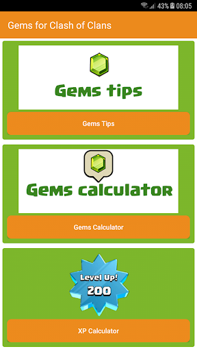 Gems Calculator for CoC 2018 1.0 screenshots 3